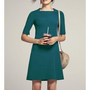 M.M. Lafleur Emily Teal Blue Green Dress Sz 12